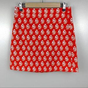 J.Crew Block Print Grasscloth Mini Skirt AO817